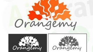 Adobe Illustrator - sample logo tuto - orangemy