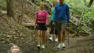 Gambar cover Dr Scott Levine & Barb Gormley on Urban Poling also called Nordic walking