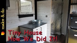Tiny House Built in a Cargo Trailer - How We Did It In 5 Weeks. - Timelapse Video