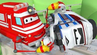 Lokomotywa Troy - Troy jest Doktorem i opiekuje się Tino - Miasto Samochodów 🚄 Bajki Dla Dziecia