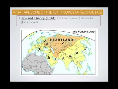 APHG.4.6- Geopolitical Theories: What is the relationship between territory & political power?