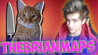 TheBrianMaps Моя МОЙ КОТ ПЫТАЕТСЯ МЕНЯ УБИТЬ Реакция | BrianMaps | Брайн Мапса Реакция | BrianMaps