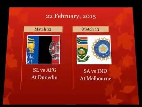 2015 Cricket World Cup fixtures, schedule and time table