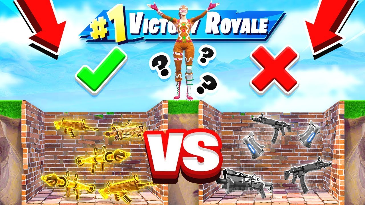Good Vs Bad Loot Dropper New Game Mode In Fortnite Battle Royale