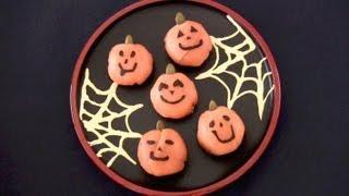 Halloween Jack-o'-lantern Ball Sushi (temari-zushi) Recipe ハロウィン 手まり寿司 レシピ