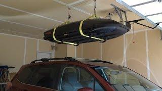 Yakima Skybox garage ceiling storage system