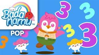 THREE - Math Song l Nursery Rhymes & Kids Songs