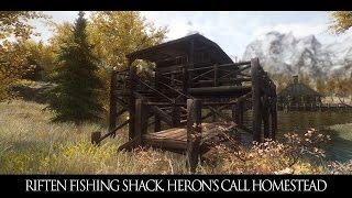 TES V - Skyrim Mods: Riften Fishing Shack, Heron's Call Homestead