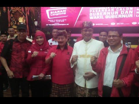 PDI Perjuangan Usung Herman NH-Sutono Di Pilgub Lampung 2018