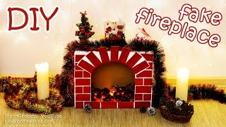 DIY Fake Fireplace With Faux Fire – Cozy Room Decor Tutorial