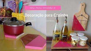 IDEIAS FÁCEIS E BARATINHAS DE DECORAÇÃO PARA COZINHA | Carla Oliveira