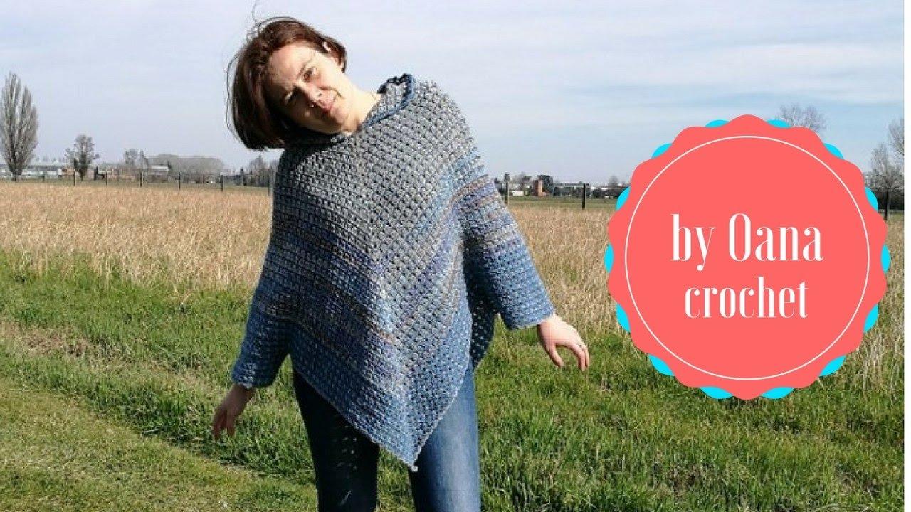 Crochet Poncho Granny Variation By Oana Youtube