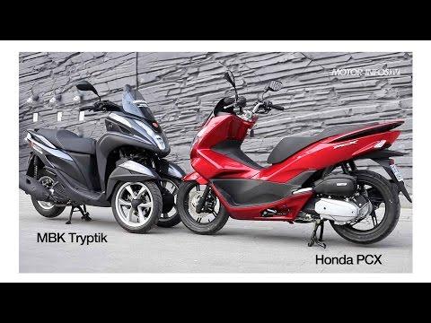 Comparatif Yamaha Tricity 125 Mbk Tryptik Versus Honda Pcx