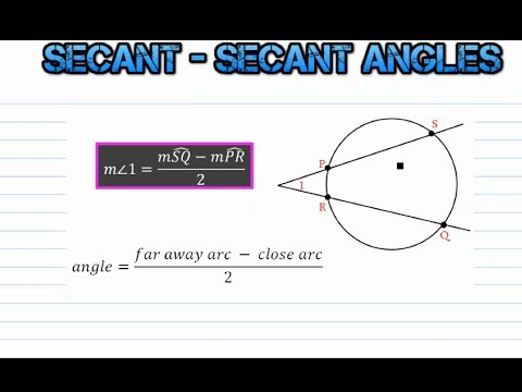 Secant Secant And Secant Tangent Power Theorems 106b