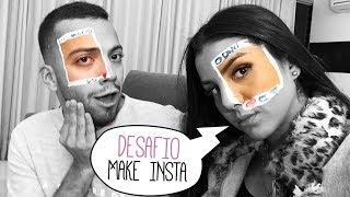 FIZEMOS O DESAFIO DE MAKE DO INSTAGRAM!!!