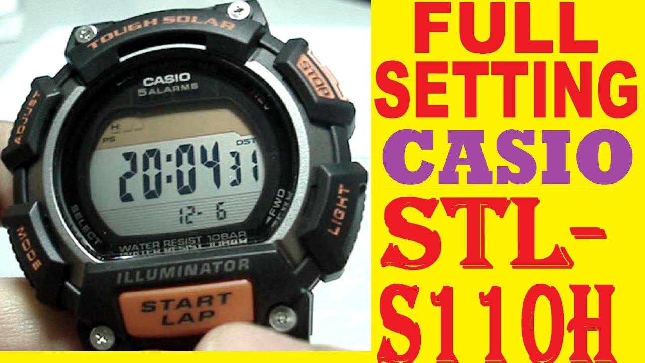 17299571280a Setting Casio STL-S110H-1AVEF - YouTube
