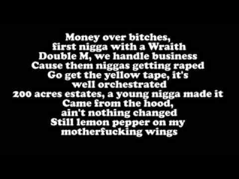 Rick Ross - Thug Cry ft Lil Wayne (Lyrics On Screen)