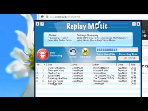 How to Record Deezer with Replay Music