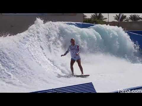Dubai Surf Barrel FlowRider FLOW Barrel #Shorts and Fails Yas Waterworld Waterpark UAE Abu Dhabi