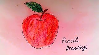 Яблоко - Рисунок карандашом