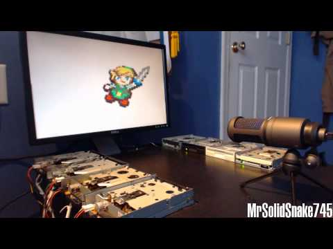 Zelda Collection on eight floppy drives