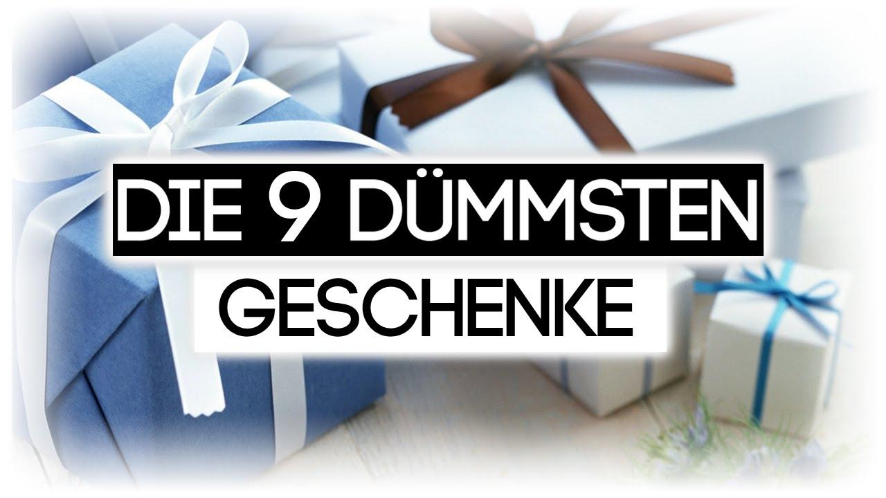 DIE 9 DÜMMSTEN GESCHENKE - YouTube