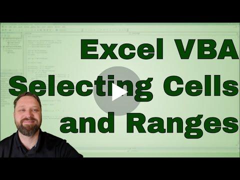 Selecting Cells In Vba