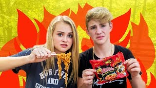 NUCLEAR FIRE NOODLE CHALLENGE (I CRIED)