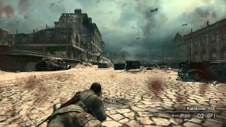 Sniper Elite V2 Gameplay - Perfect Sniping