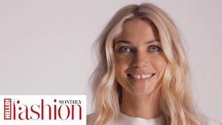 Aussie catwalk star Jessica Hart models for #HFM