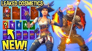 *NEW* All Leaked Fortnite Skins & Emotes..! *LAVA LEGENDS* (Pirate Skins,Fire Spinner)