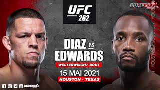 Find the tale of tapes fight between #natediaz and #leonedwards officialised for #ufc262subscribe to our channel 👉 https://www./ch...