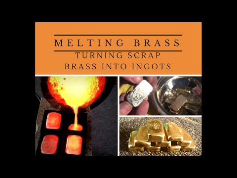 CASTING DIRTY BRASS INTO CLEAN INGOTS Awesome Ingots made from dirty scrap brass