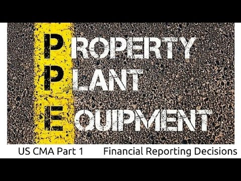 Property, Plant & Equipment (PPE) | Financial Reporting Decisions| US CMA Part 1| US CMA course