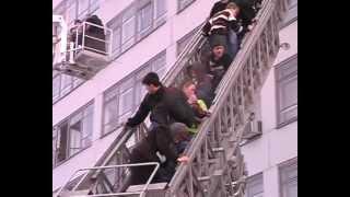 МЧС , пожар в химико-механическом колледже