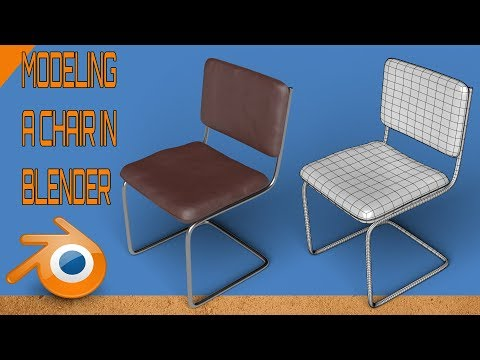 modeling a chair in blender process