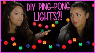 DIY Ping Pong String Lights?! | Niki and Gabi DIY or DI-Don