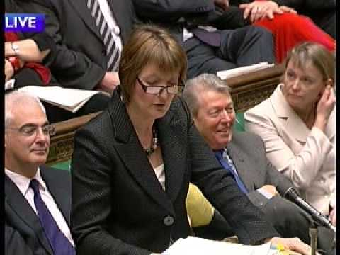 Prime Ministers question time Deputies stand in Harriet Harman 1