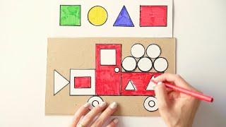 Geometrik Şekiller Ile Çizim 🎬Meri Ile Online Resim Dersleri