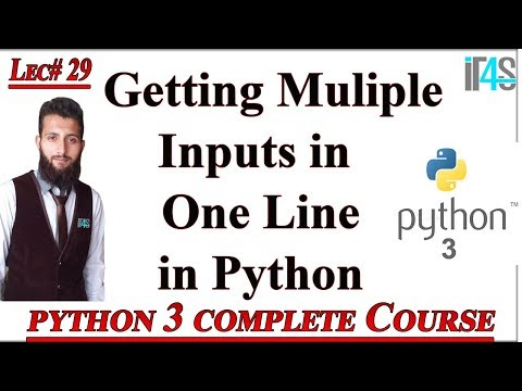 Python Tutorial in Urdu | Hindi | Getting Multiple Inputs From Users in One Line in Python thumbnail