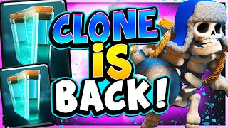 NEW OP CLONE DECK GOES UNDEFEATED on TOP LADDER! - CLASH ROYALE