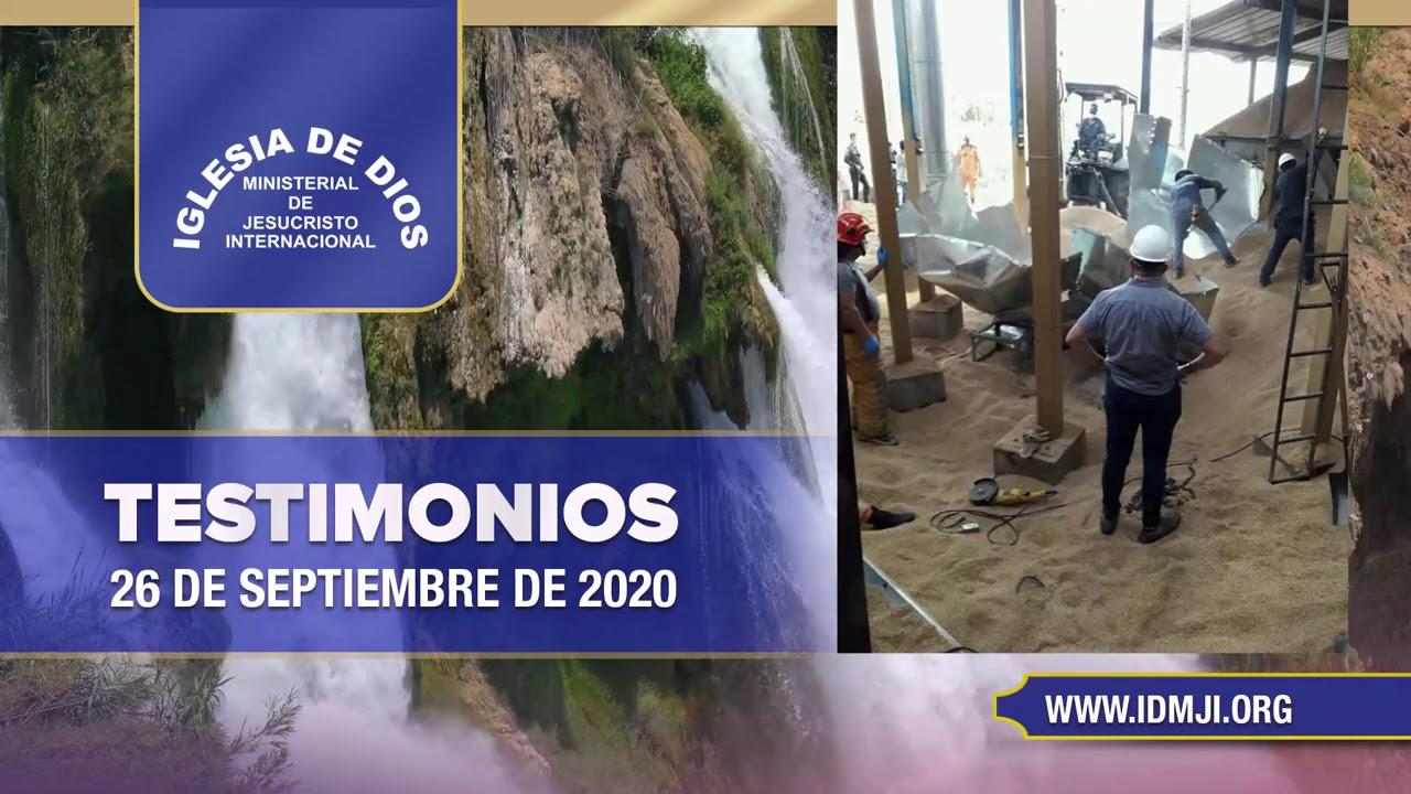 Testimonios 26 de septiembre de 2020 - Iglesia de Dios Ministerial de Jesucristo Internacional