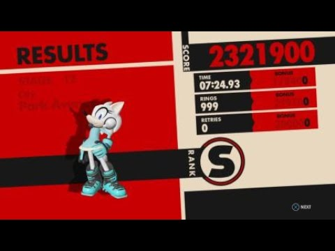 Sonic Forces - Stage 12 Park Avenue RA - 999 Rings w/Wolf Avatar + Cube
