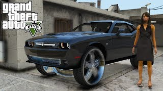"GTA 5 Real Hood Life #34 Pickin up the Challenger on 28"" Floaters w/ Bae! (GTA 5 Hood Life Mods)"