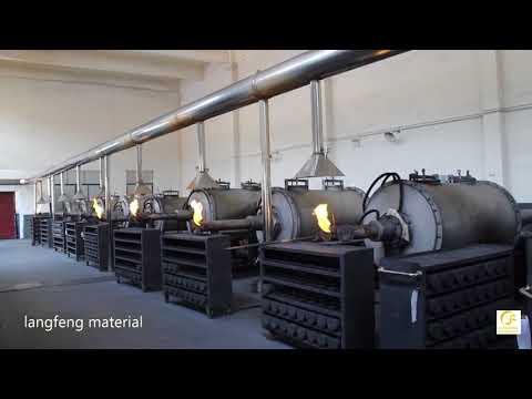 hafnium carbide powder sintering in carbon tube furnace