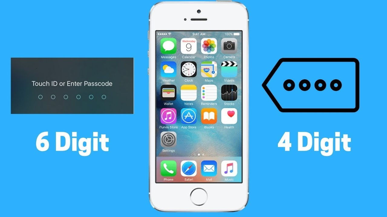 How to change I-phone 6 digit password to 4 digit password