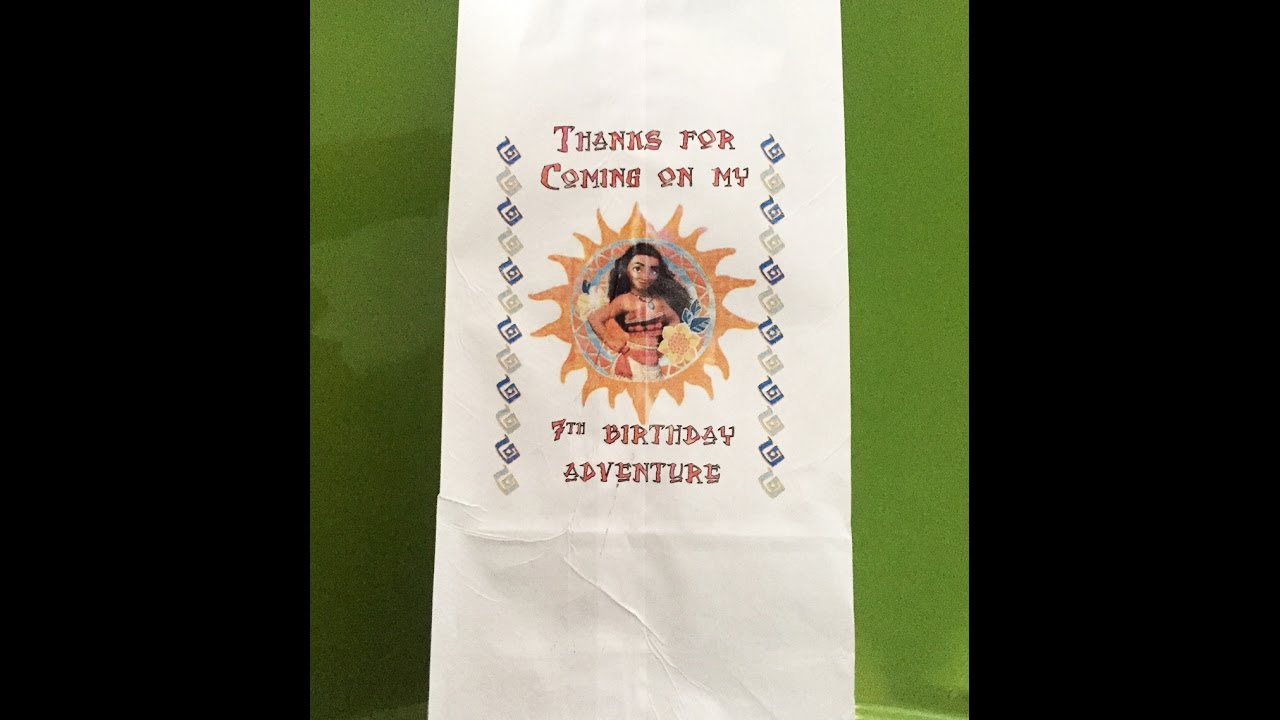 How To Make Custom Color Gift Bags Moana Bag With MS Word