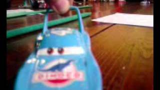 disney pixar cars king crashes