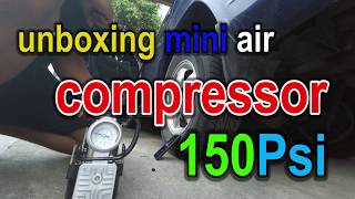 Unboxing KEN MASTER Air Compressor Mini 150Psi + Test