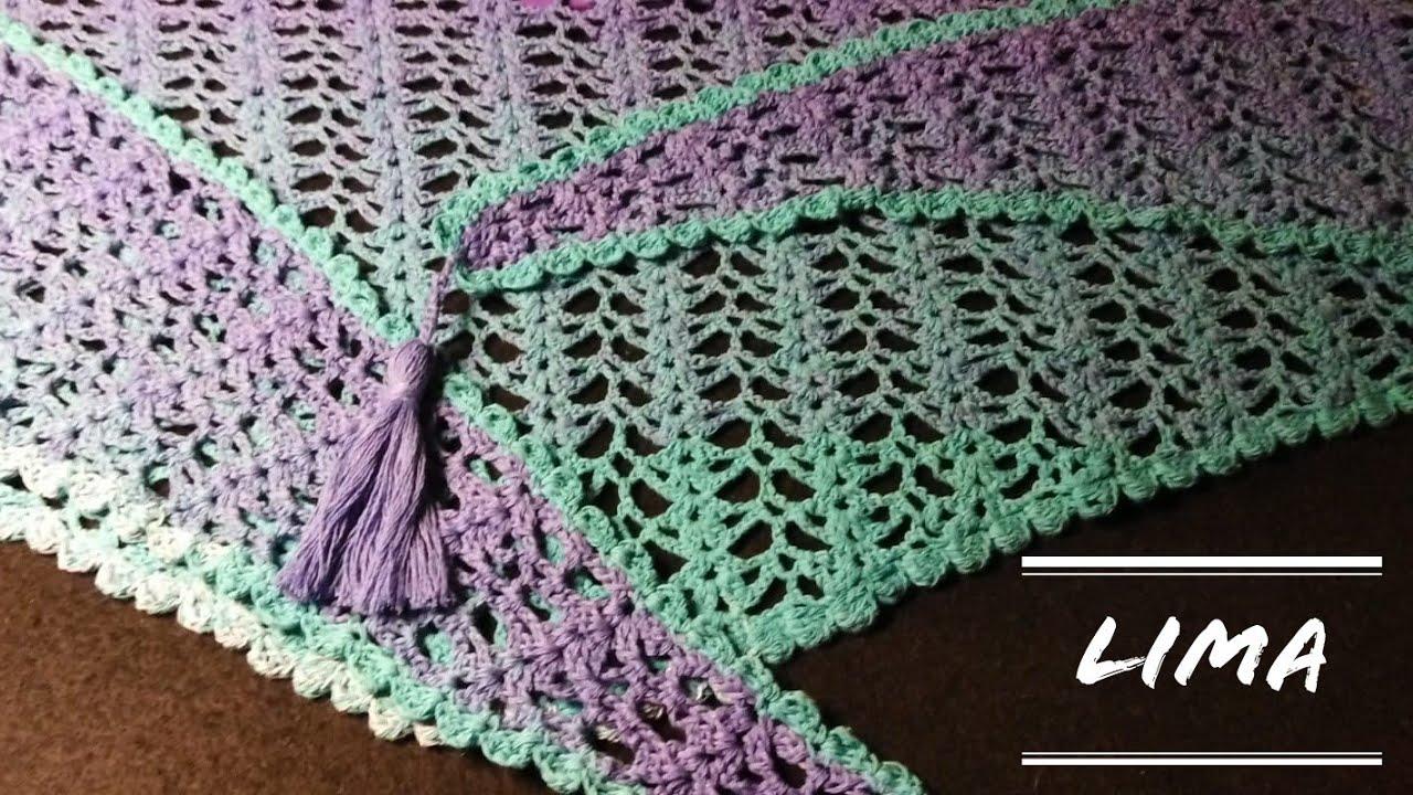 """Baktus """"Lima"""" (ganchillo/crochet)"""